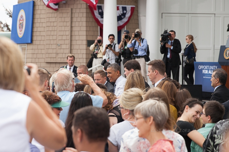 obama in the crowd at lake harriet bandshell