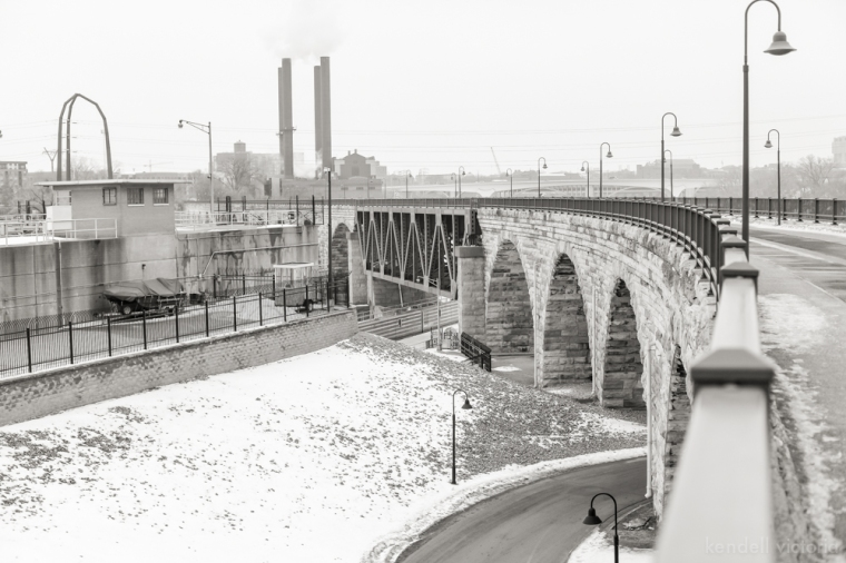 Stone Arch Bridge, Mill City, Gold Medal Flour, Minneapolis