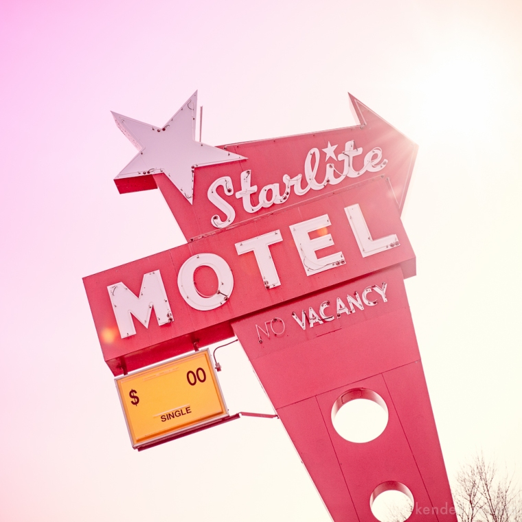 Central AVe NE, Minneapolis, MN, Fine Art Photography, Starlite Motel, Retro Sign, Marquis
